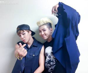 bts, jimin, and rapmonster image