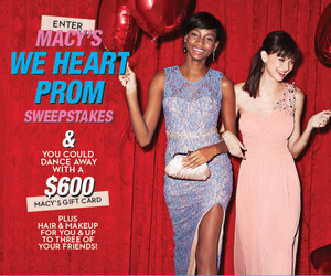 macy's, sweepstakes, and prom 2015 image