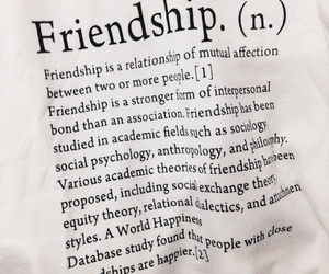 definition, friendship, and quotes image