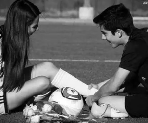 love, football, and couple image