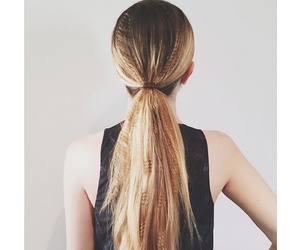 crimped hair and ponytail image
