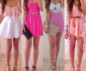 pink, fashion, and dress image