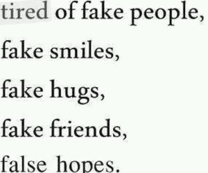 fake friends sad image