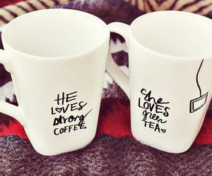 love, coffee, and tea image