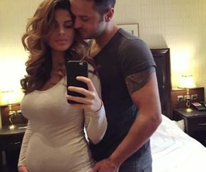 couple, pregnant, and love image