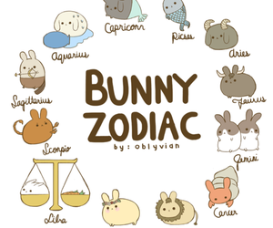 zodiac, bunny, and kawaii image