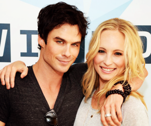 ian somerhalder, candice accola, and caroline forbes image