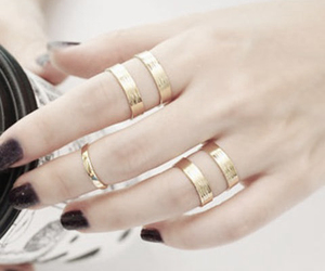 fashion, gold, and ring image