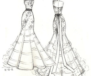 dress and sketch image