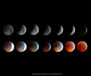 beautiful, moon, and space image