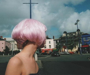 girl, pink, and hair image