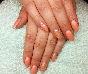 nail, nails, and orange image