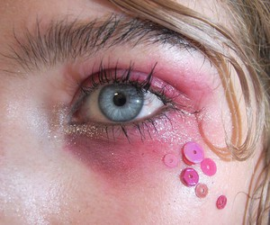pink, eyes, and pale image