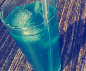 blue, ice, and drink image