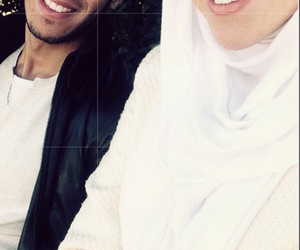 couple, voile, and hijab image