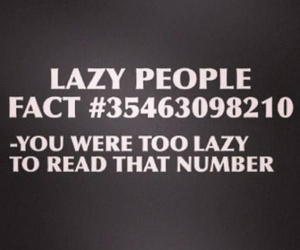 Lazy, fact, and funny image