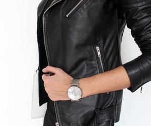 biker jacket and black image