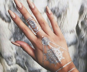 nails, tattoo, and henna image