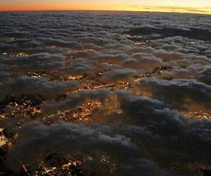 clouds, city, and sky image