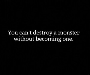 quotes, monster, and black and white image