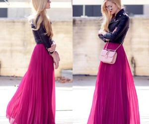 fashion, black, and blonde image