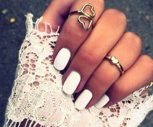 chic, nails, and woman image