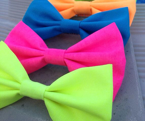 neon, bow, and colorful image