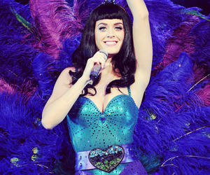 katy perry, peacock, and blue image