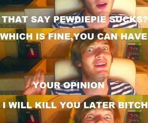 comments, haters, and pewdiepie image