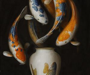 fish, fishes, and koi image