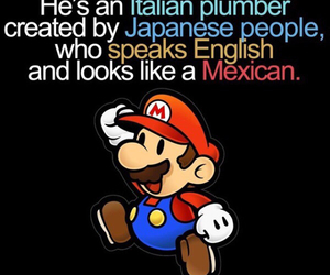 mario, funny, and racist image