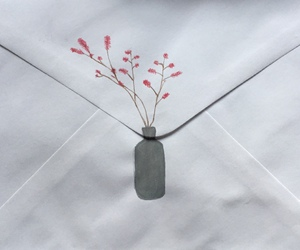 art, flowers, and Letter image