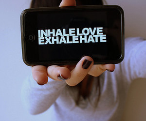love, hate, and inhale image