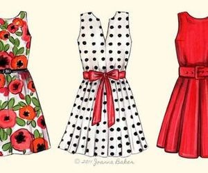 dress, drawing, and clothes image