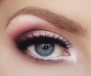 makeup, eyes, and pink image