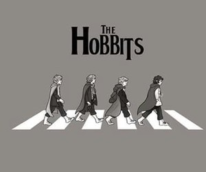 funny, the beatles, and the hobbit image