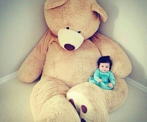 babies, teddies, and funny image