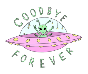 alien, wallpaper, and goodbye image