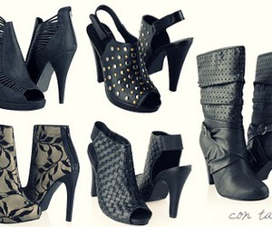 black, studs, and boots image