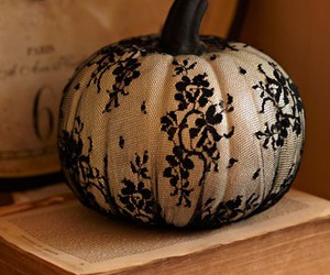 pumpkin, Halloween, and lace image
