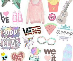 vans, tumblr, and unicorn image