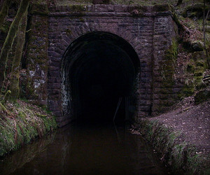 canal, dark, and nature image