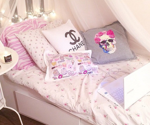 bedroom, chanel, and girly image