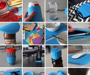 diy, mat, and reuse image