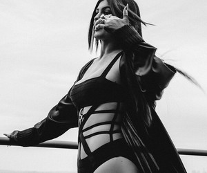 b&w, swimsuit, and kylie jenner image