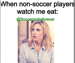 eating, food, and soccer image
