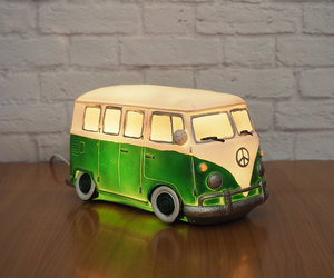 green, lamp, and vw bus image