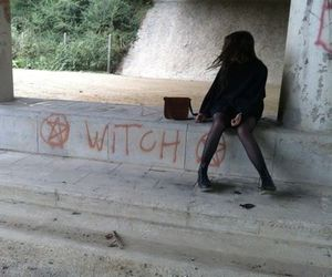 witch, girl, and grunge image
