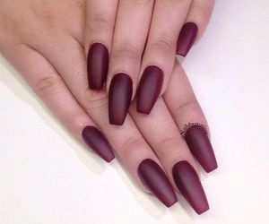 coffin, matte, and nails image