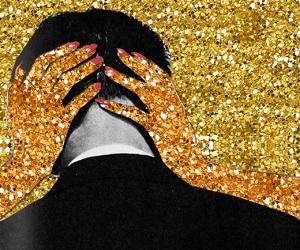 art, couple, and glitter image